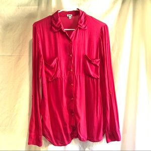 Splendid Shirting button up top pink Size large